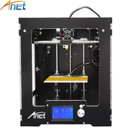 Anet A3 3D Printer Machine Full Acrylic Assembled Reprap I3 3D Printer Kit with 1 roll Filament 8G SD Card +Tool for Free Large
