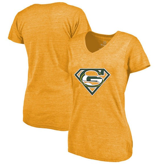 New Design Women s Packers Fans Classical V neck T Shirt 16516636f