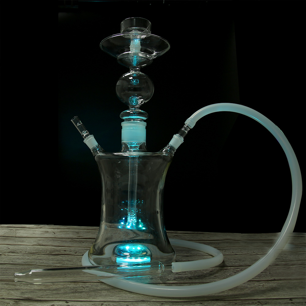 USA SELLER GLASS HOOKAH w// LED /& Silicone Hose TOP QUALITY