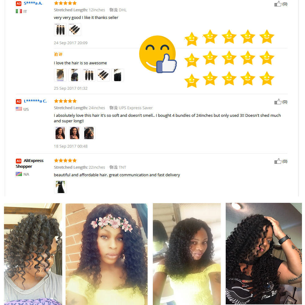 Sparkle diva hair deep wave brazilian hair weave bundles 100 sparkle diva hair deep wave brazilian hair weave bundles 100 human hair bundles 8 28inch natural color non remy hair extensions in hair weaves from hair pmusecretfo Images