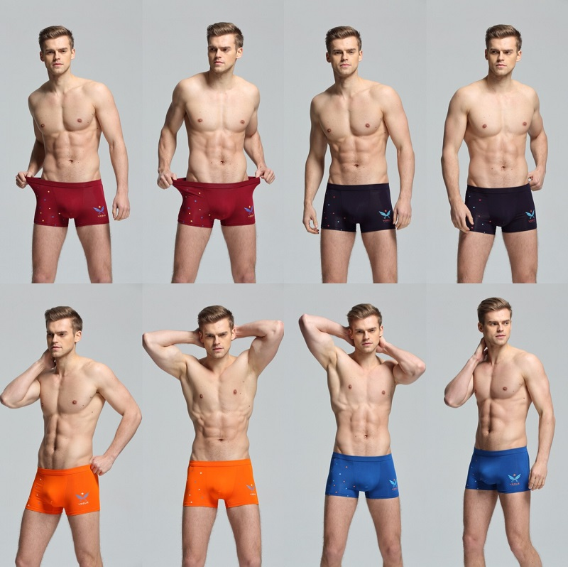 Bamboo Fiber Underwear Men Soft Boxer Shorts Panties Comfortable Breathable Underpants 19