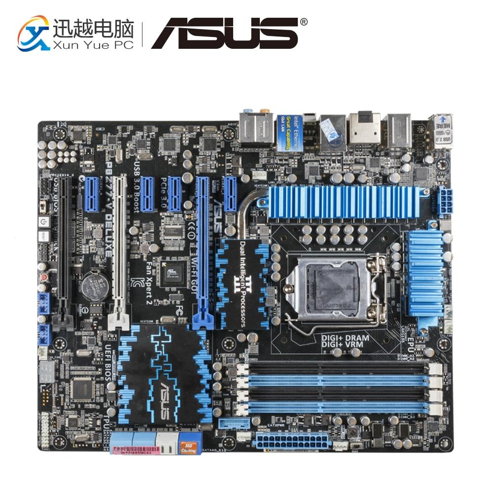 Asus P8Z77-V DELUXE Desktop Motherboard Z77 Socket LGA 1155 i3 i5 i7 DDR3 32G SATA3 USB3.0 ATX original motherboard asus p8z77 i deluxe lga 1155 ddr3 for i3 i5 i7 usb2 0 usb3 0 16gb z77 desktop motherboard free shipping