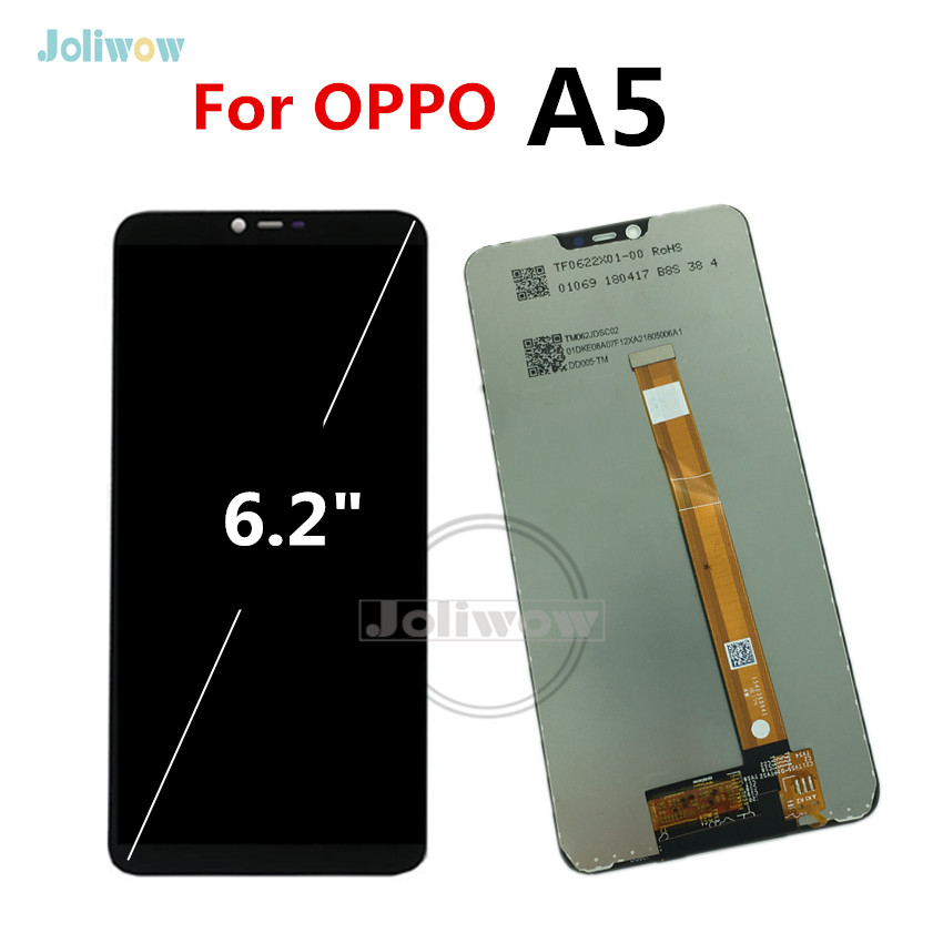 For OPPO A5 LCD Display with Touch Screen Digitizer Replacement screen for oppo A5 A 5 lcd Display Assembly