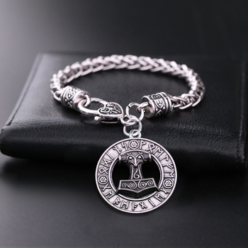 Viking Cord Odin'S Ravens Axe Wolf Pendant Bracelets  Viking Bracelet