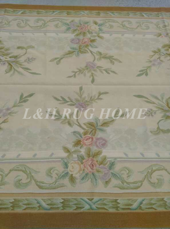 Free Shipping 6'X9' French Aubusson Rug, 100% hand woven New Zealand woolen rug - 3