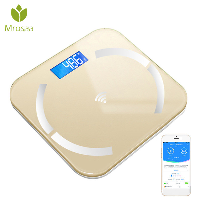 Display-Scale Bluetooth-Scales Mass-Bmi Weight Water-Muscle Floor-Body Smart Electronic