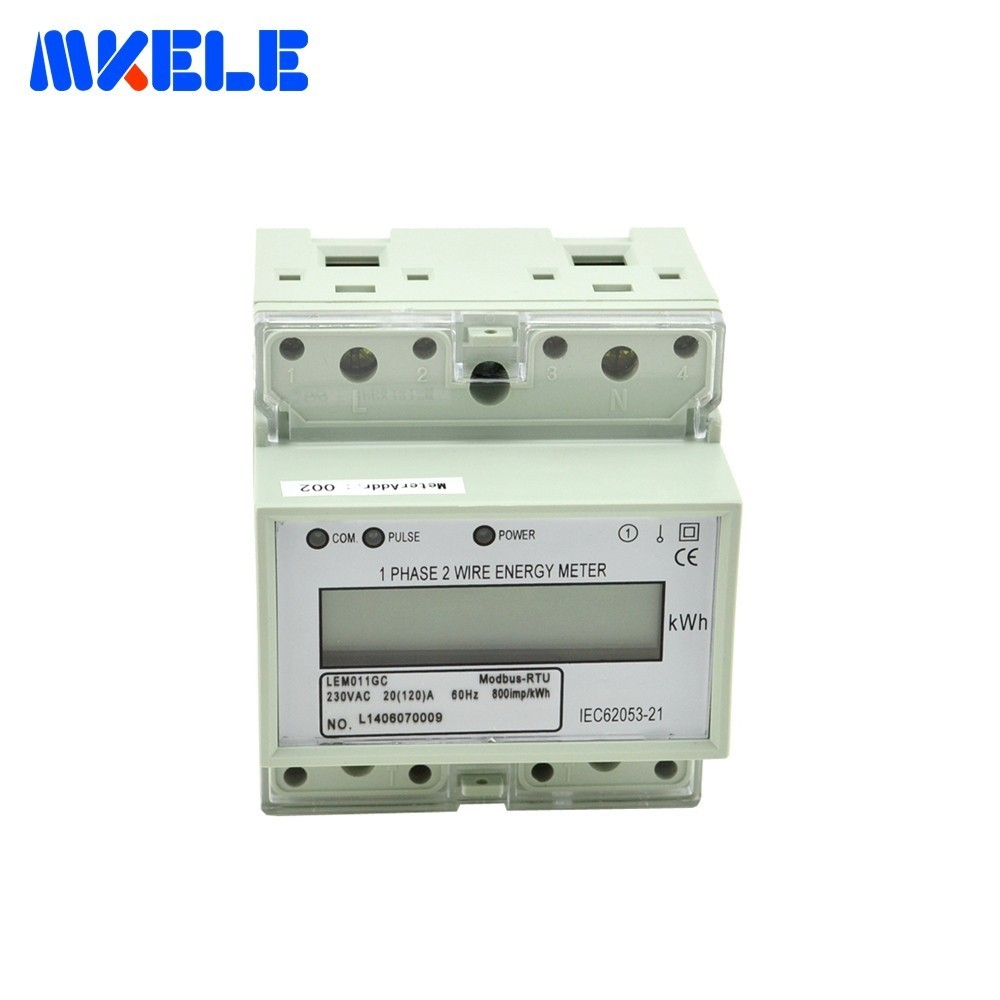 Newest Product Din Rail Electricity Meters Mk Lem011gc Afforable 2 2wire Modbus 485 Wiring Wire Energy Meter Lcd Single Phase Smart In From Tools On