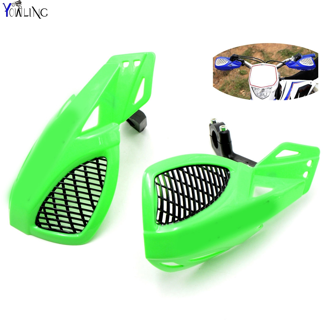 Dirt bike Motorcycle 7/8''22mm handlebar brake hand guard For Kawasaki KX KLX KFX KDX 65 80 85 125 250 250 450 450 150 F/R/S dirt bike motorcycle 7 8 22mm handlebar brake hand guard for yamaha yz250x yz426f yz450f yz450fx yz80 yz85