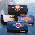 New Arrival Captain America /iron Man/Batman/Superman Pencil Pen Case Cosmetic Makeup Coin Pouch Zipper Bag Purse Dollar Price