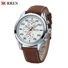 2016 Новая Мода Оригинальный Бренд CURREN Мужские Швейцарские Часы Спортивные Часы Кварцевые Часы Часы Часы Кожаный Ремешок Мужчины Наручные Часы
