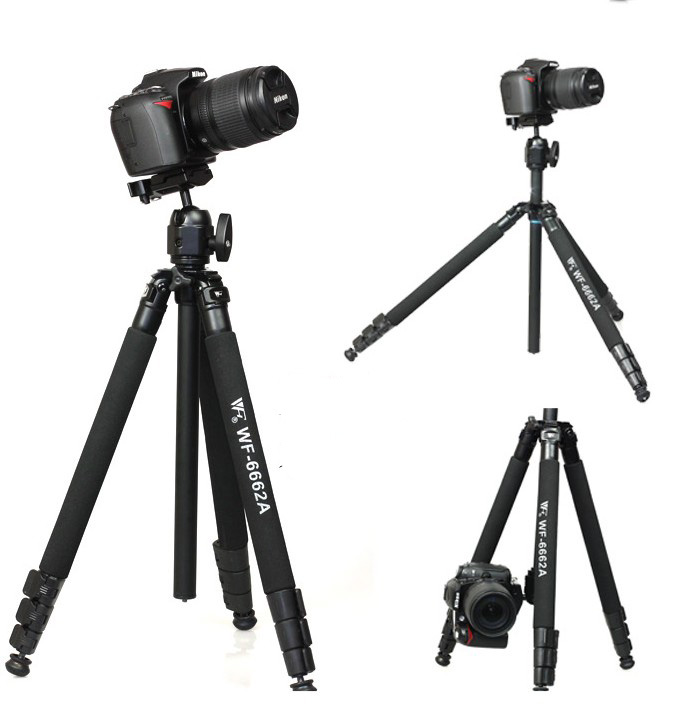 WEIFENG WF 6662A Fancier FT 6662A Tripod with Ball head Camera Photo DV  telescope Tripod-in Live Tripods from Consumer Electronics    1