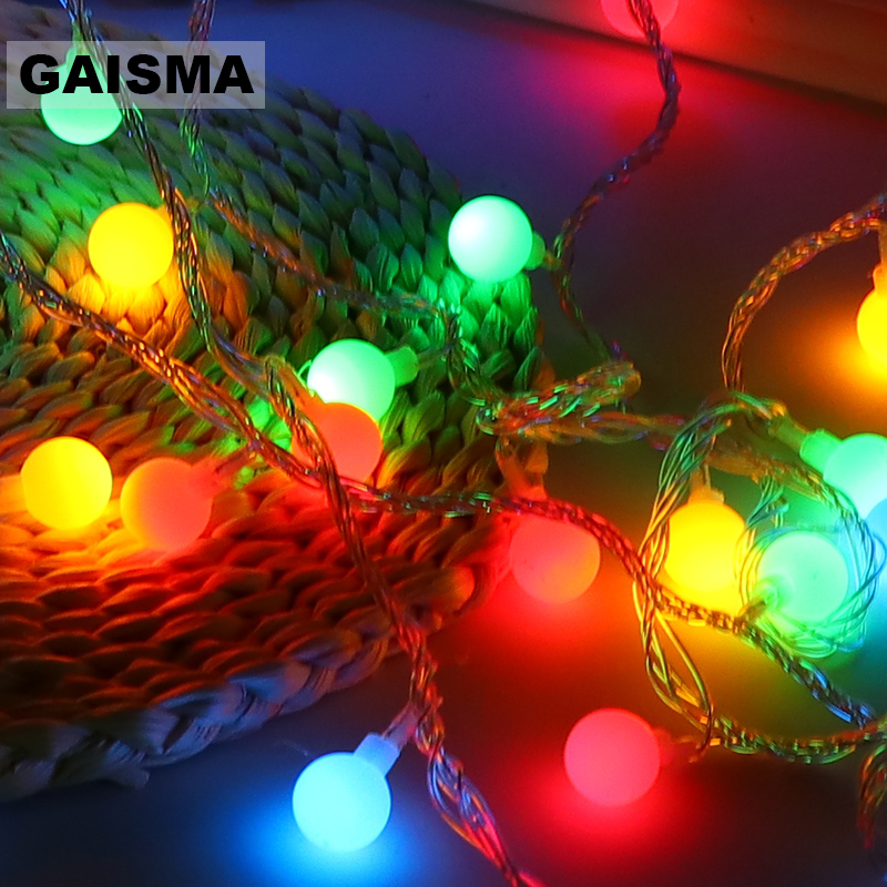 5M 40 Bulbs LED Christmas Fairy Lights Garland Wedding String Lights Decoration For Party Holiday Lighting Chain Guirlande