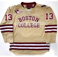 36fc057e2 BOSTON COLLEGE  13 JOHNNY GAUDREAU Hockey Jersey Embroidery Stitched  Customize any number and name Jerseys