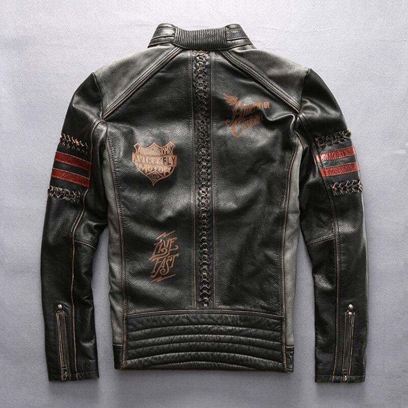 설명 읽기! 아시아 크기 정품 모터 바이커 재킷 슬림 품질 가죽 자켓 소 가죽 자켓 망 가죽 자켓