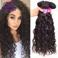 Grade 8a Mink Brazilian Virgin Hair Natural Wave 4 Bundles Wet And Wavy Virgin Brazilian Hair Weave Bundles Curly Human Hair