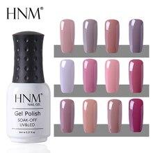 HNM, 12 цветов, Полупостоянный Гибридный лак, УФ-гель для ногтей, отмачивается, 8 мл, штамповка, эмаль, живопись, геллак, светодиодный, лампа