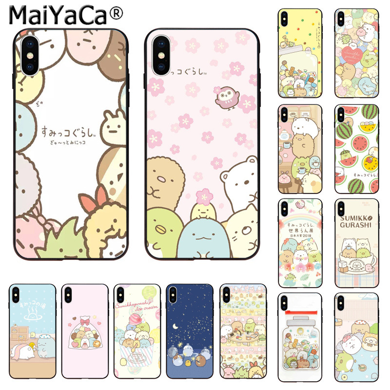 MaiYaCa <font><b>Kawaii</b></font> sumikko gurashi Coque Shell <font><b>Phone</b></font> <font><b>Case</b></font> for <font><b>iphone</b></font> 11 pro 5Sx 6 <font><b>7</b></font> 7plus 8 8Plus X XS MAX XR image
