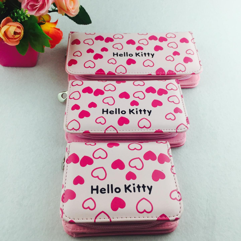 Hello Kitty Blue Daisy Zip Wallet