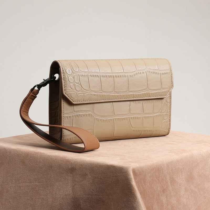 WOONAM Vrouwen Mode Designer Handtas Top Verbergen Echt Leer in Alligator Patroon Clutch Satchel Cross Body Bag WB947
