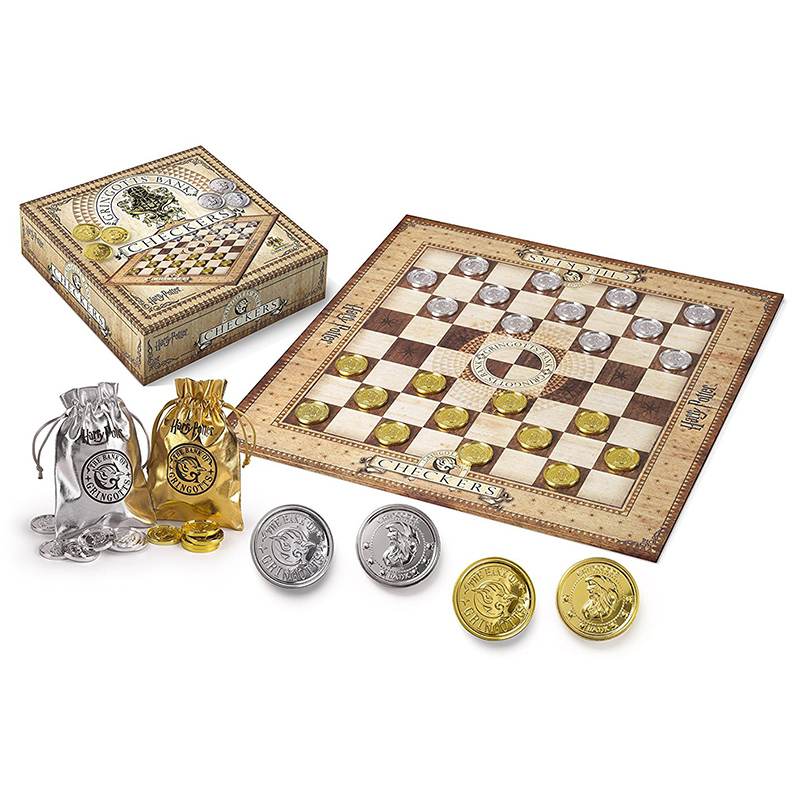 Harry Potter Card Game Chess Game Checkers Set Board Game Gringotts Silver Gold Pieces Fans Collector's Edition