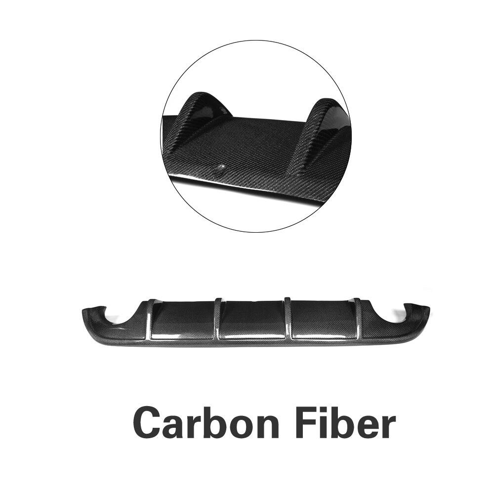 Задний бампер диффузор спойлер защита для Infiniti Q50 база и Спорт 2013- углеродное волокно/FRP/PU - Цвет: Carbon Fiber