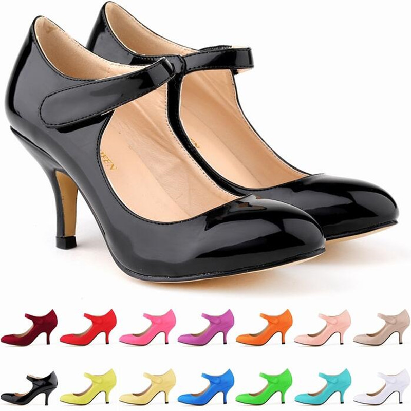 Women Buckle Pointed Toe 6cm High Heels Fashion Sexy Shoes Women Pumps Wedding Shoes Business Working Shoes Woman Zapatos Mujer