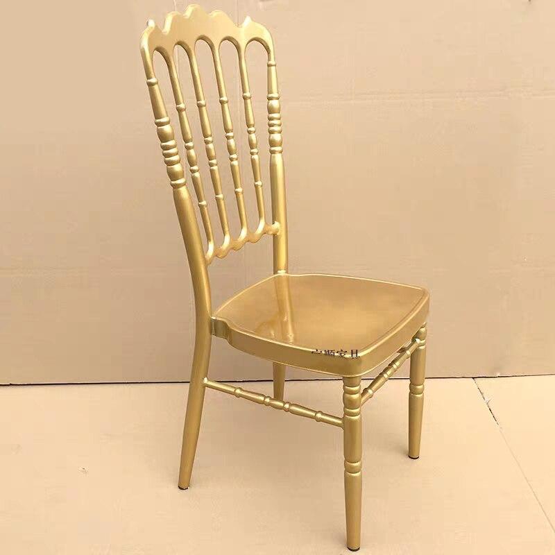 Chaise de mariage couronne chaise de banquet chaise de mariage en métal doré manger chaise pour Banque Moment de mariage dîner et réunion