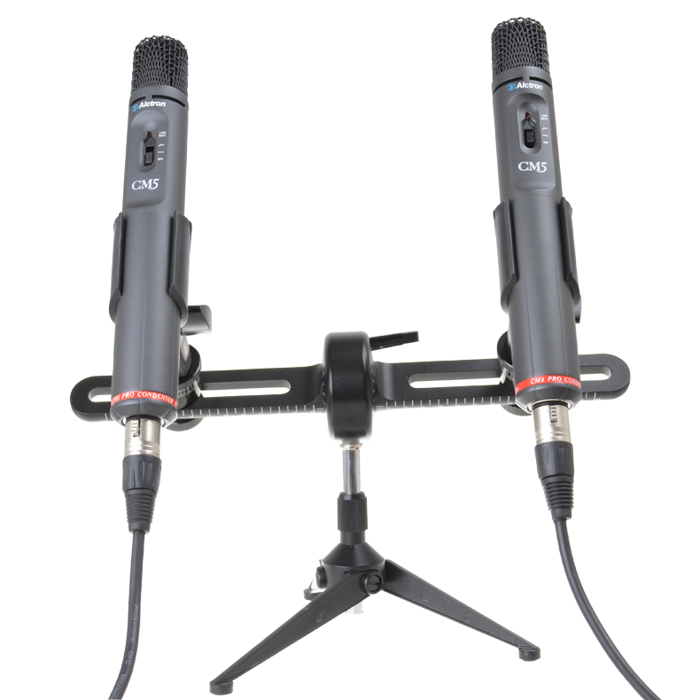 Alctron MAS006 multifunctional precise stereo recording dual microphone bracket pole bracket XY recording mic stand holder