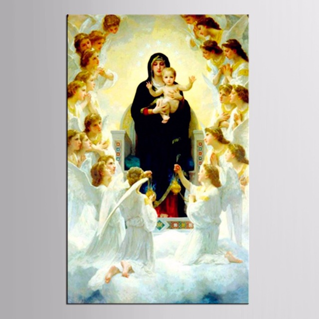Top Wall Deocr Canvas Painting 1 Pcs Classic Virgin Mary Modern ...