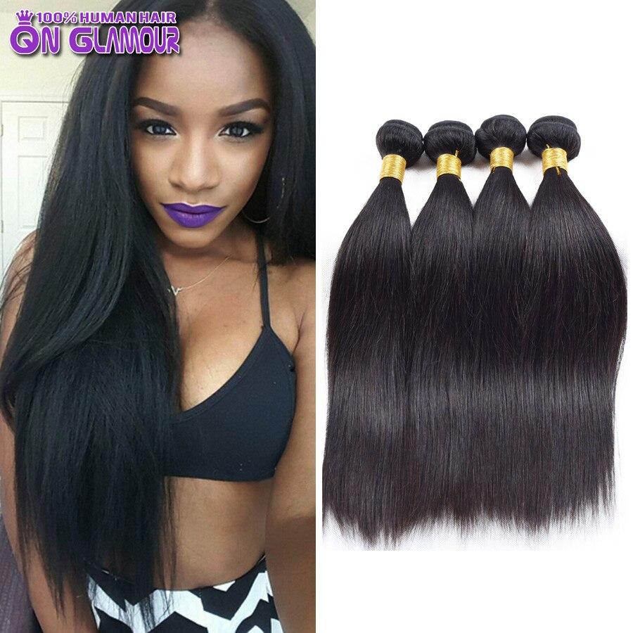 Straight permanent hair - 6a Indian Straight Virgin Hair 3 Bundles Indian Virgin Hair Staight Cheap Human Hair Bundles Raw