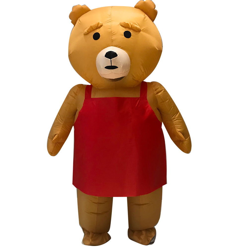 Limited Edition Teddy Bear Inflatable Costume Halloween Anime Cosplay Costumes Fancy Party Dress new