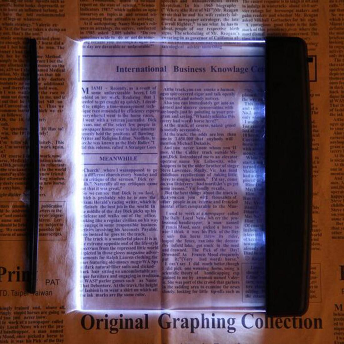 Magic Night Vision Light Led Reading Book Flat Plate Portable Car Travel Panel Reading Light Protect