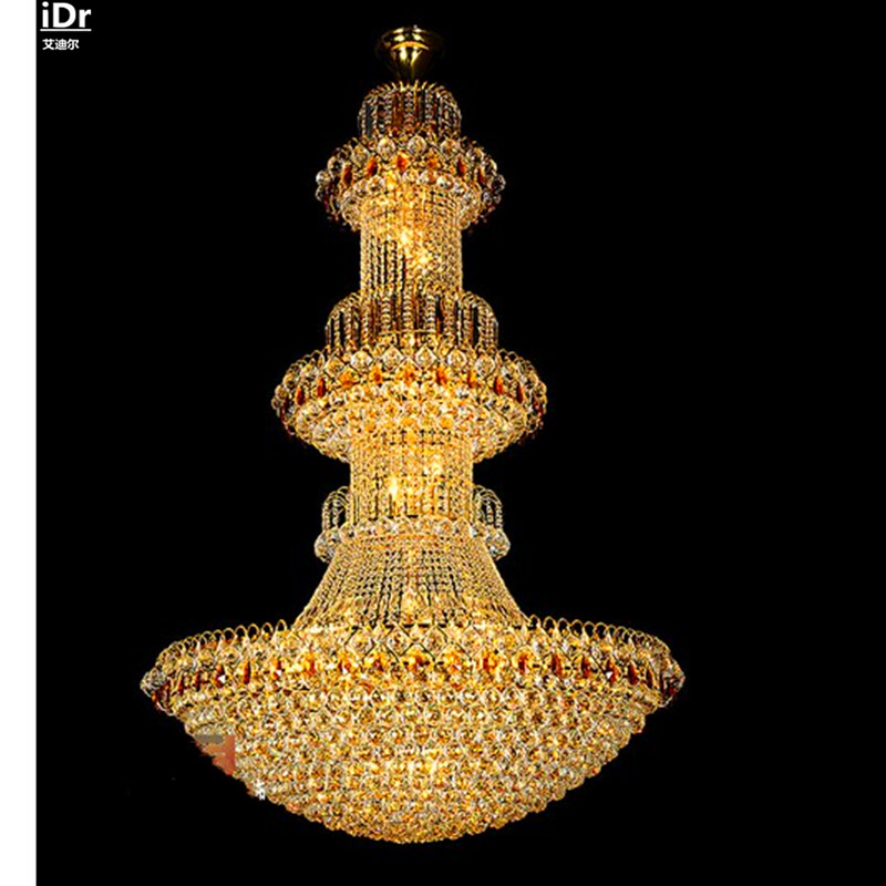 Traditional yellow crystal lamp living room penthouse villa stairs 2 - Indoor Lighting - Photo 1