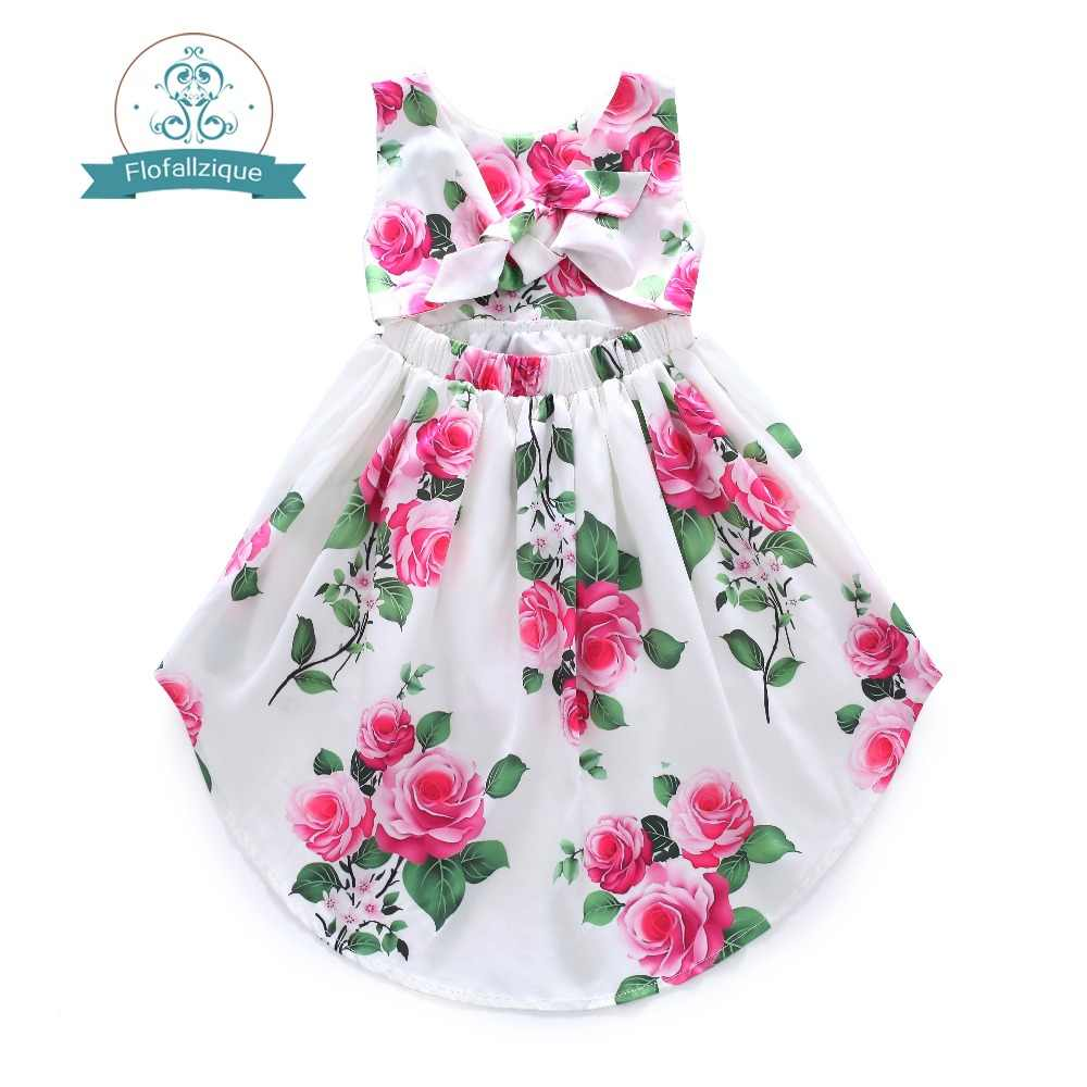 5caab8a88b9df Flofallzique Cotton Vintage Printed Floral Sweet Kids Clothes With ...