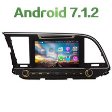 "8"" HD 2GB RAM Android 7.1.2 Quad Core 4G DAB WiFi Navi Multimedia Car DVD Player Radio Stereo GPS For Hyundai Elantra 2016 2017"