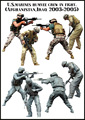 US MARINES HUMVEE CREW IN FIGHT (AFGHANISTAN IRAQ 2003-2005) 1/35 Resin Model Kit Free Shipping