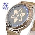 Naruto Anime Xingyunshi Hyun Pantalla Táctil LED 3ATM Impermeable Reloj de Cuero Hombres y Mujeres Reloj Luminoso montre homme