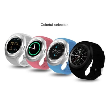 New Y1 circle screen Smart Watch support Nano SIM Card and TF Card With Whatsapp and Facebook & Twitter APP smartwatch on sale meanit m5