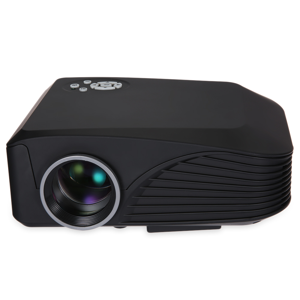 H88 High Resolution Full HD 3D Supported Multimedia LCD Projector Protale Proyector With Remote Controller Black White