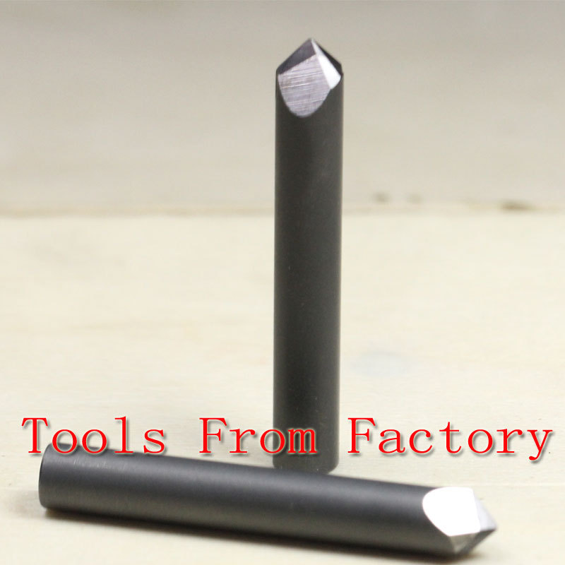 1PCS 70 deg 0.6mm Tip 45mm Length CNC Stone Material Carving Cutting Knife Diamond Cutting Tools Rectangular Lettering Knife 1pcs 7mbr25sa120 70