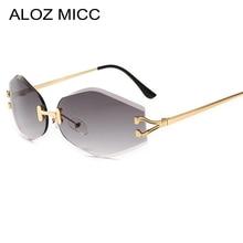 ALOZ MICC New Lady Rimless Sunglasses Men 2018 Brand Designer Fashion Crystal Ocean Lens Sun Glasses Female Shade UV400 Q643