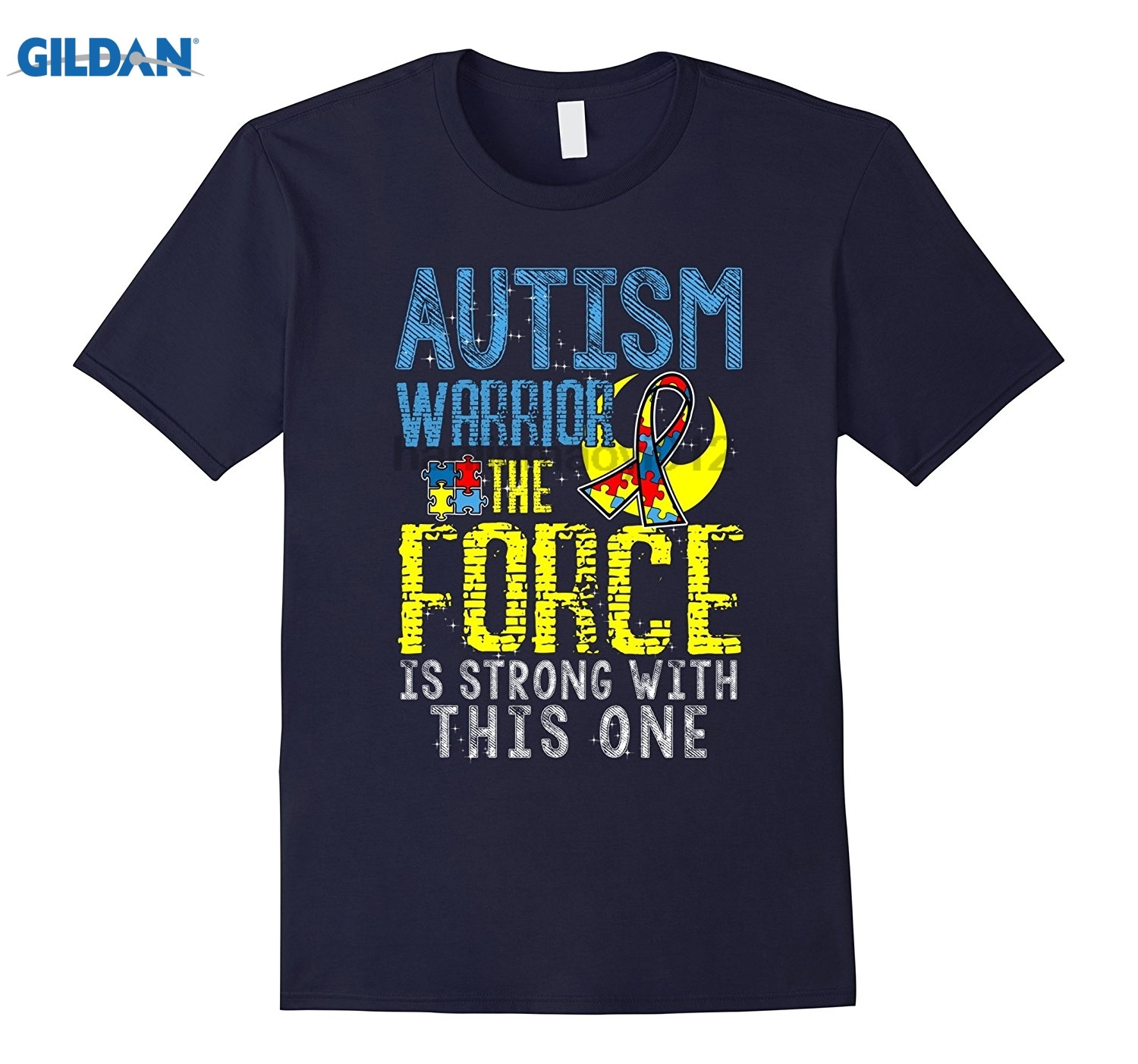 GILDAN Autism Awareness Warrior Force Strong Autism t-shirts gifts Mothers Day Ms. T-shirt