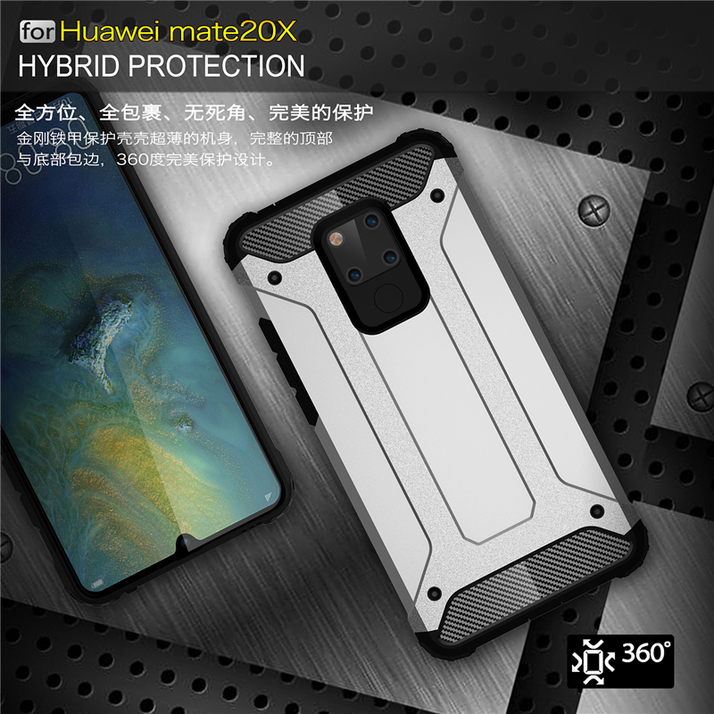 For Huawei Mate 20 X Case Shockproof Armor Rubber Havey Duty Phone Case For Huawei Mate 20 X Cover For Mate 20 X Funda Youthsay in Fitted Cases from Cellphones Telecommunications