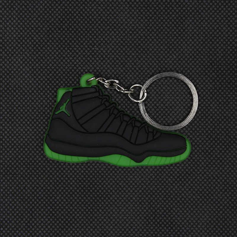 Baru Mini Jordan 11 Gantungan Kunci Sepatu Pria Wanita Anak-anak Hadiah Gantungan Kunci Bola Basket Sepatu Gantungan Kunci Gantungan Kunci Porte Clef