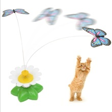 Pet-Cat-Toys Electric-Rotating Kitten-Play-Toy Funny Butterfly Bird Newest for Steel-Wire