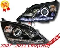 Car Styling Headlight For CR V CRV headlights 2007 2008 2009 2010 2011 head lamp LED DRL front light Bi Xenon Lens xenon HID
