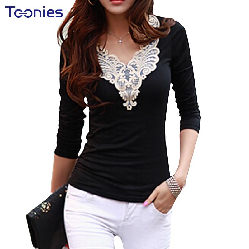 Women t shirt ladies autumn 2018 new long sleeved t shirt for Long t shirts for ladies online