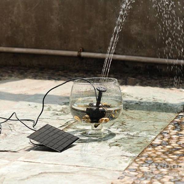 2016 Home garden Solar Panel Power Submersible Fountain Pond Water Pump free shipping new 220v ylj 500 500l h 8w submersible water pump aquarium fountain fish tank power saving copper wire