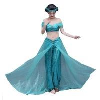 2017 Aladdin Jasmine Princess Adult Kids Belly Dancer Cosplay Costume New