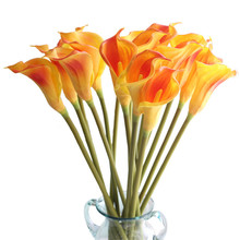 1 PC Real Touch Artificial Flowers Wedding Decorative Calla Lily Fake Flower Home Party Decor Accessories